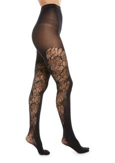 Wolford Blossom Floral-Inset Tights
