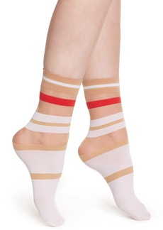 Wolford Boogie Stripe Crew Socks