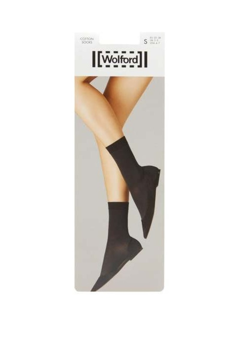 Wolford Cotton-blend ankle socks