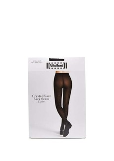 Wolford Crystal Affair back-seam tights