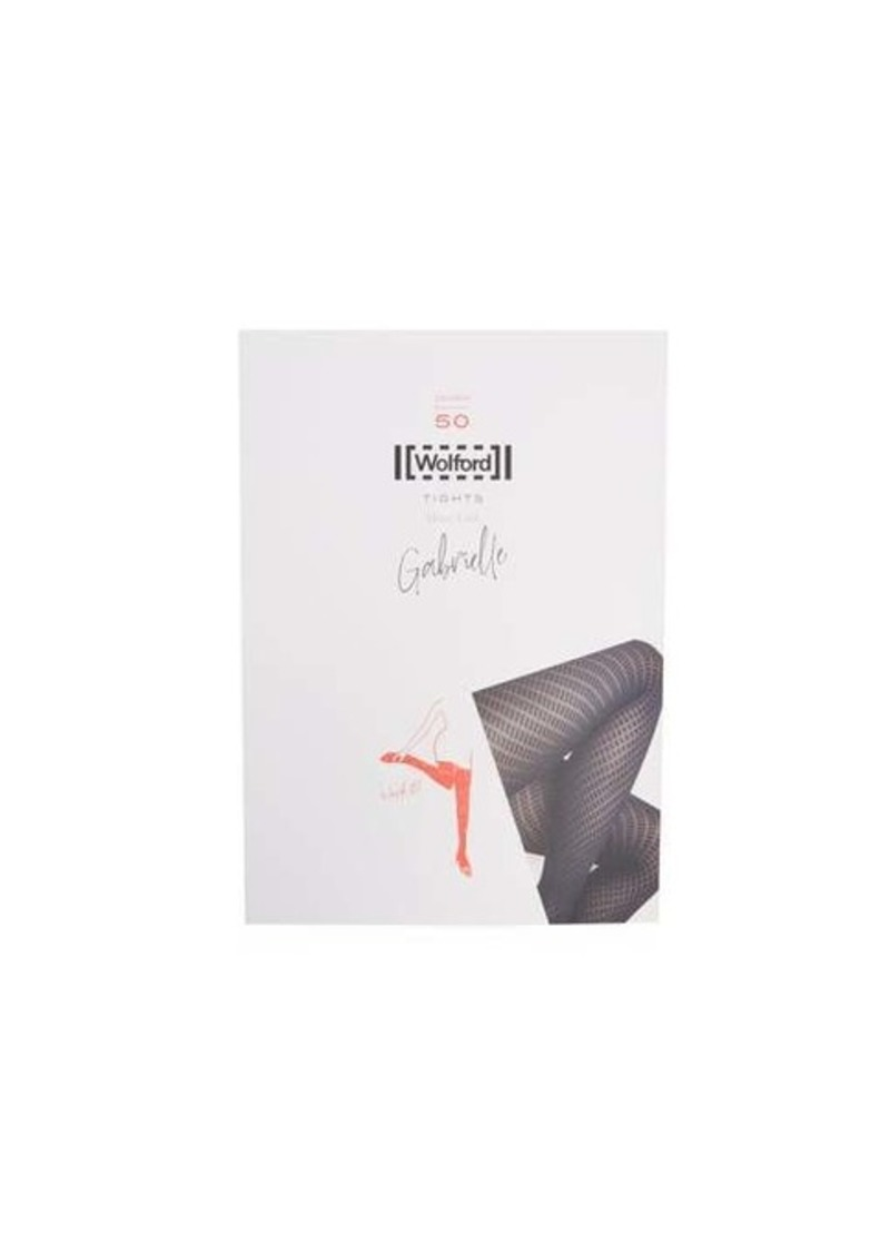 Wolford Gabrielle diamond-knitted tights