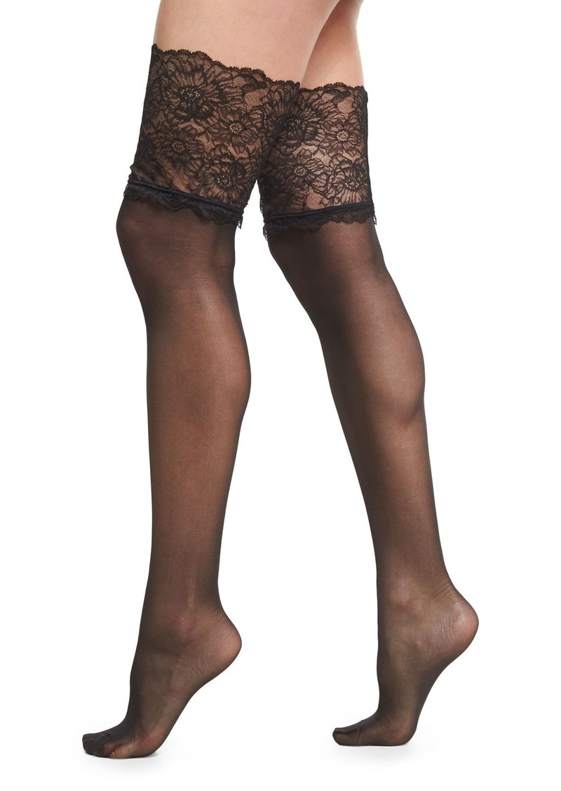 6eeec65b0 Wolford Wolford Lace-Filigree Stay-Up Thigh-High Stockings