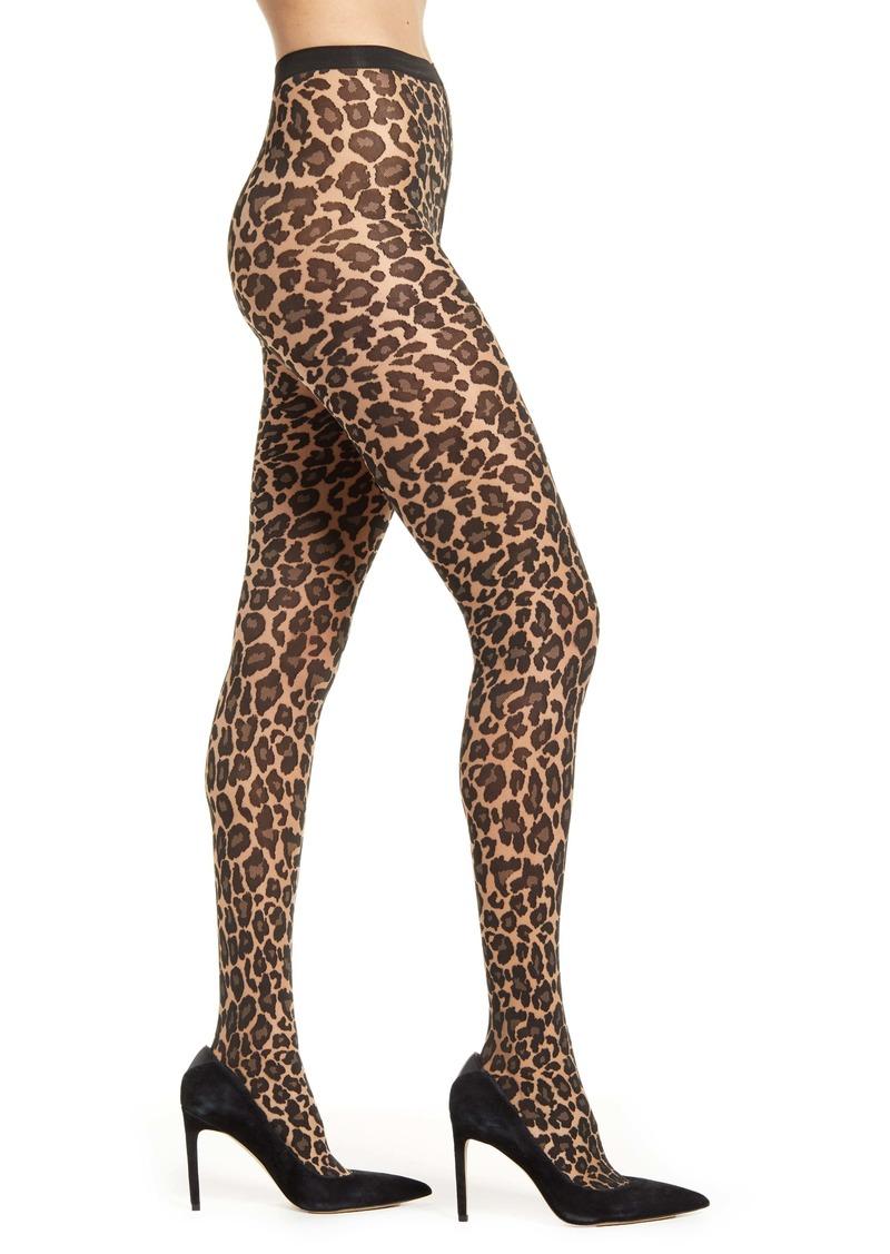 Wolford Leopard Spot Tights