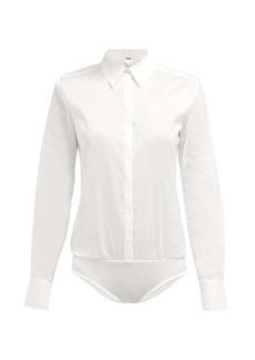 Wolford London Effect cotton-blend bodysuit