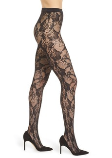 Wolford Louise Floral Fishnet Tights