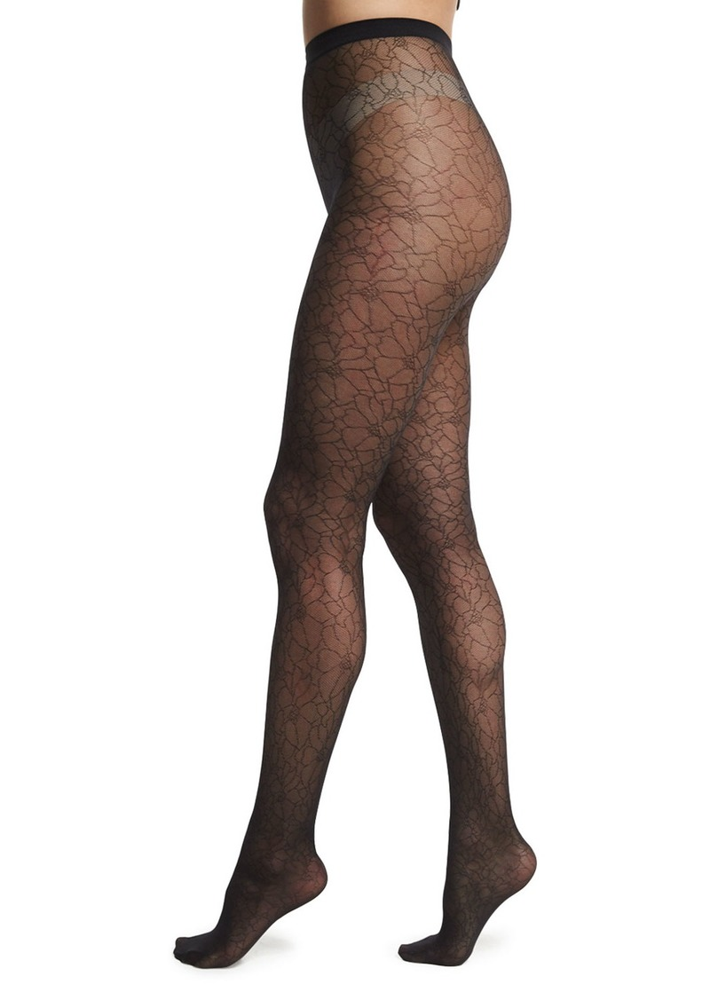 140b8f36828b2 Wolford Wolford Melina Sheer Patterned Tights Now $23.00