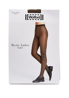 Wolford Mystic Amber houndstooth tights