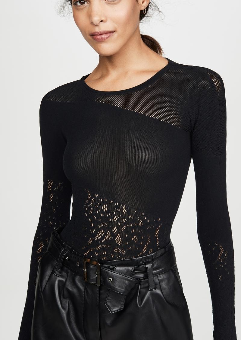 Wolford Poison Dart Net Thong Bodysuit