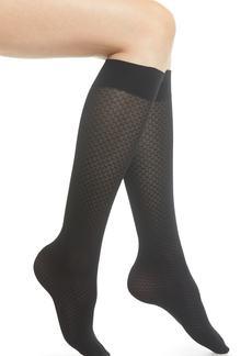 Wolford Tess Check Knee High Socks