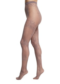 Wolford Trailing Flowers Net Lace Tights