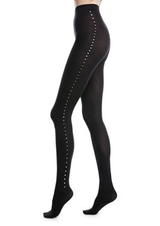 Wolford Velvet de Luxe Tights with Rivet Trim