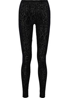 Wolford Woman Ada Flocked Stretch-tulle Leggings Black
