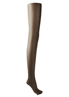 Wolford Woman Mystic Amber 20 Denier Houndstooth Stretch-jacquard Tights Neutral