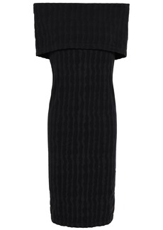 Wolford Woman Off-the-shoulder Stretch-modal Jersey Dress Black