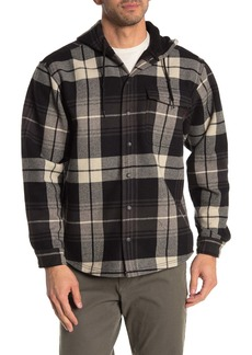 Wolverine Bucksaw Plaid Flannel Fleece Lined Hooded Shirt Jacket