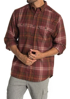 Wolverine Escape Plaid Print Long Sleeve Regular Fit Shirt