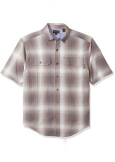Wolverine Men's Ausbin Plaid Cotton Madras Short Sleeve Shirt