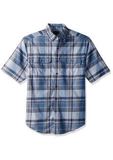 Wolverine Men's Ausbin Short Sleeve Madras Shirt