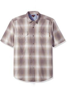 Wolverine Men's Ausbin Plaid Cotton Madras Big & Tall Shirt  2X-Large