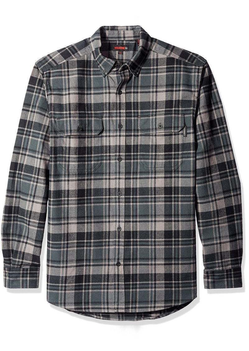 Wolverine Men's Big and Tall Redwood Brawney Weight Two Sided Brushed Flannel Shirt  X-Large/Tall