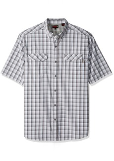 Wolverine Men's Big Pentwater Vented Back Plaid Short Sleeve Shirt  X-Large/Tall