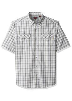 Wolverine Men's Big Pentwater Vented Back Plaid Short Sleeve Shirt