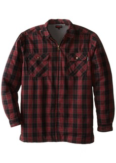 Wolverine Men's Big-Tall Marshall Flannel Sherpa Lined Full Zip Shirt Jacket  3X-Large