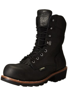 Wolverine Men's Buckeye 8 Inch Gore EAA Safety Toe Back Logger Work Boot