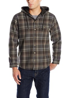 Wolverine Men's Bucksaw Duralock Bonded Micro-Fleece Hooded Shirt Jacket