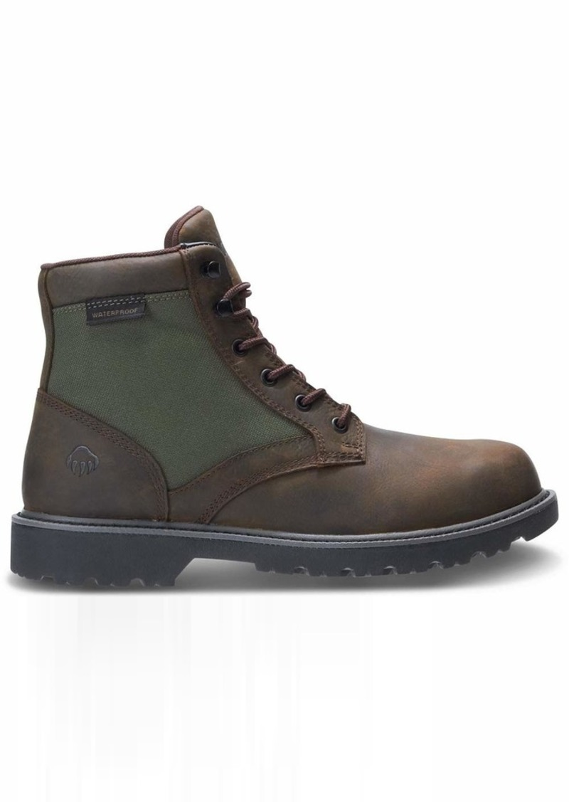 Wolverine Men's Field Boot Industrial Shoe Brown/Green  Medium