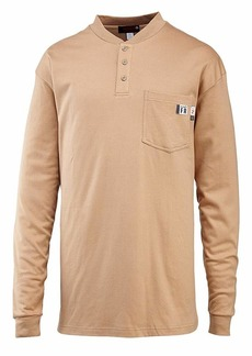 Wolverine Men's Flame Resistant Long Sleeve Henley T-Shirt  2X-Large