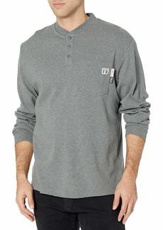Wolverine Men's Flame Resistant Long Sleeve Henley T-Shirt