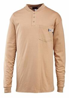 Wolverine Men's Flame Resistant Long Sleeve Henley T-Shirt  Large