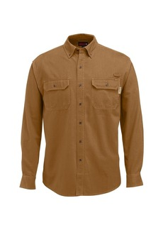 Wolverine Men's Fletcher Soft and Rugged Twill Long Sleeve Shirt
