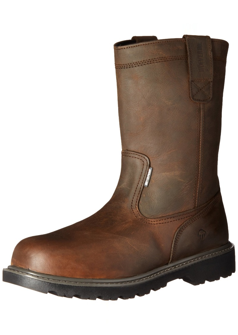 "WOLVERINE Men's Floorhand Waterproof 10"" Steel Toe Work Boot   M US"