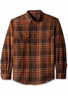 Wolverine Men's Glacier Heavyweight Long Sleeve Flannel Shirt