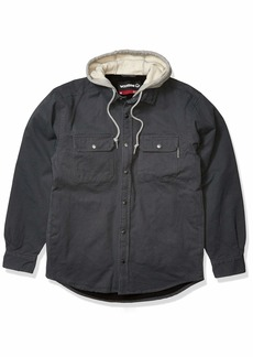 Wolverine Men's Overman Fleece Lined Cotton Duck Canvas Hooded Shirt Jacket  2X-Large