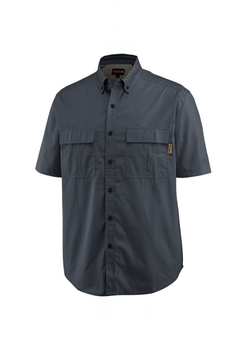 WOLVERINE Men's Pentwater Vented Back Plaid Short Sleeve Shirt