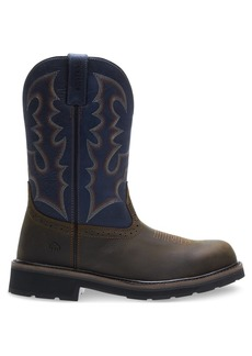 Wolverine Men's Rancher Round Soft-Toe Western Construction Boot  8.5 Extra Wide US