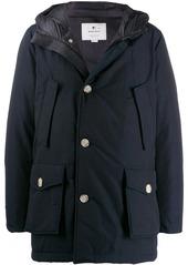 Woolrich zip-up parka coat