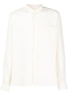 Woolrich band-collar relaxed shirt