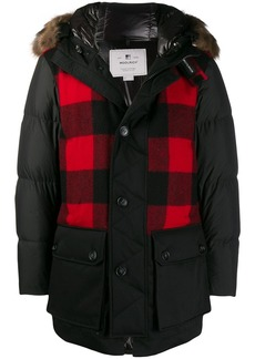 Woolrich Buffalo check parka coat