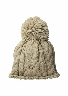 Woolrich Cable Stitch Beanie with Pom