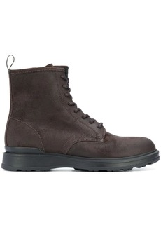 Woolrich chamois leather combat boots