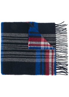 Woolrich checked scarf