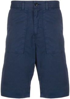 Woolrich crinkled effect turn-up cuff shorts