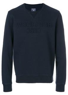 Woolrich embossed logo jumper