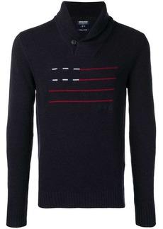 Woolrich flag stripes jumper