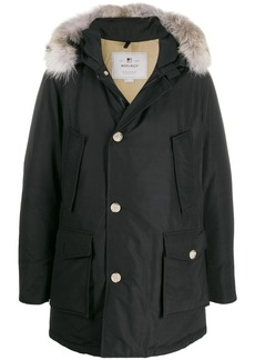 Woolrich fur trim hooded padded coat