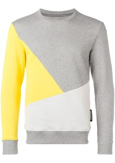 Woolrich geometric colour block sweatshirt